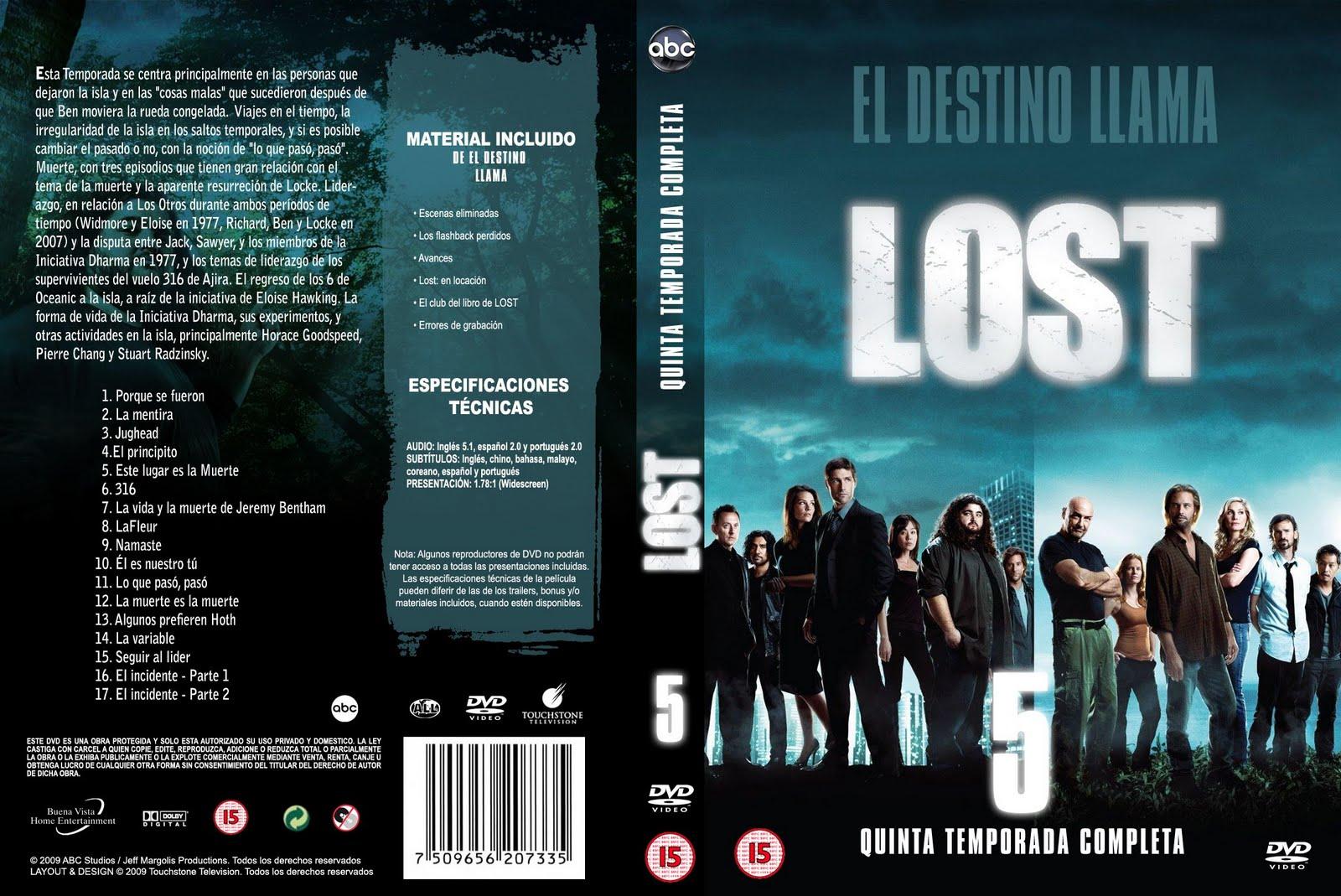peliculas en dvd lost 5 186 temporada 5 dvd